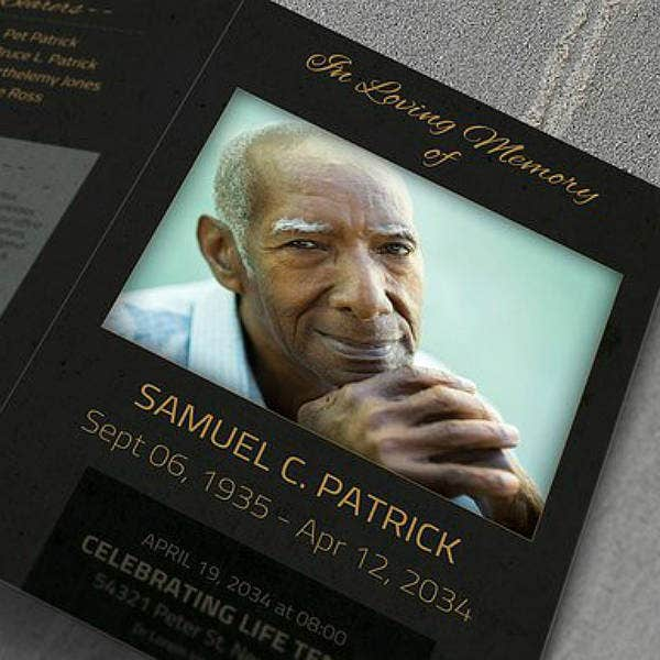 luxurious funeral service brochure template