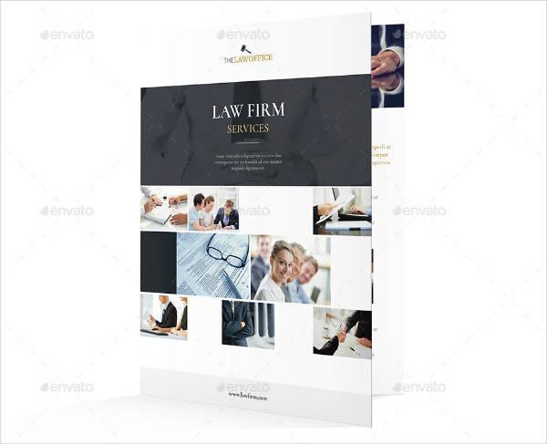 Magazine Style Attorney Bifold Brochure