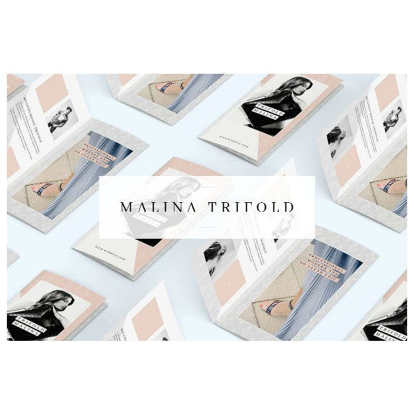 Malina Trifold Brochure And Pattern