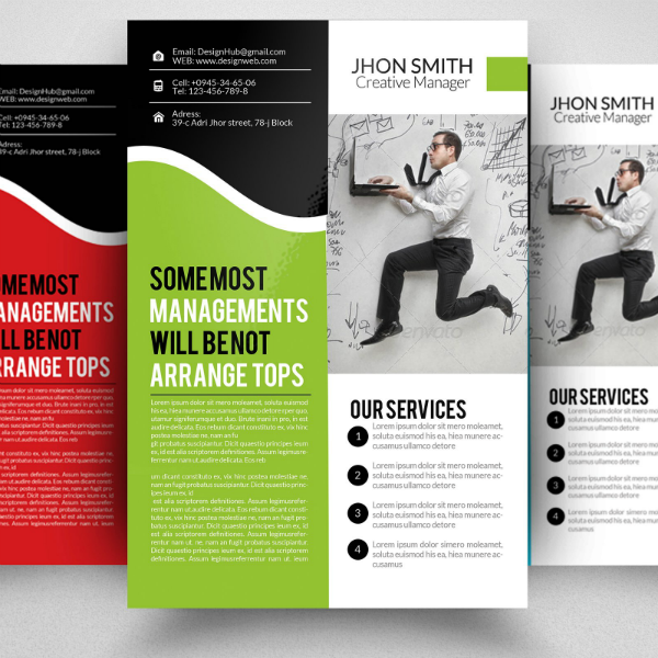 Management Services Corporate Strategy Flyer Template