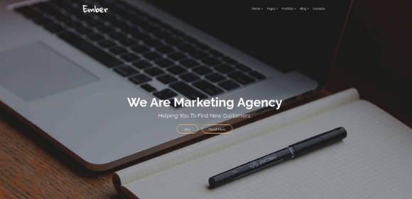marketing agency website