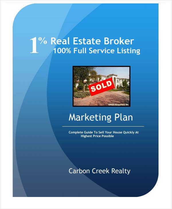 marketing plan real estate broker