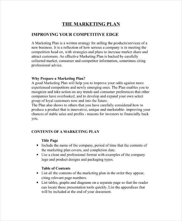 marketing plan template for restaurant