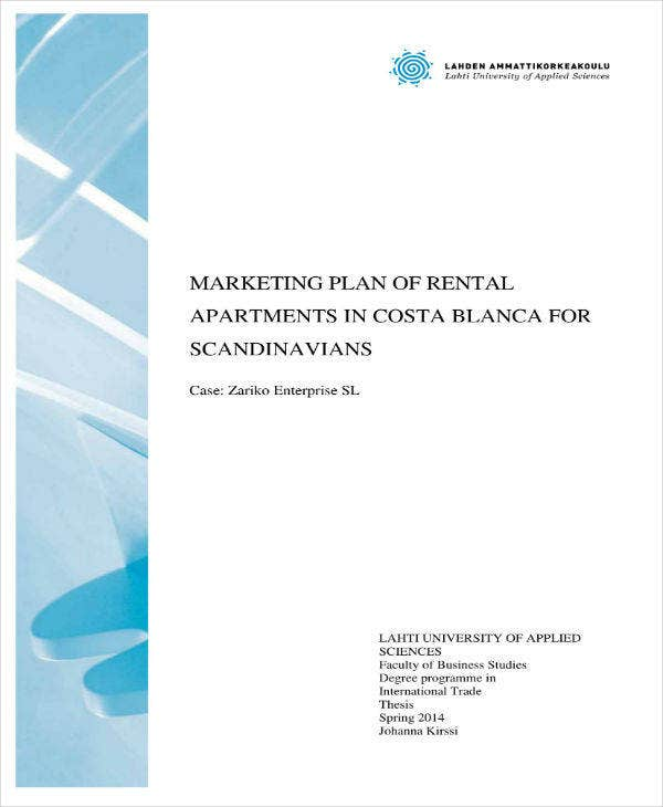 marketing plan for apartments