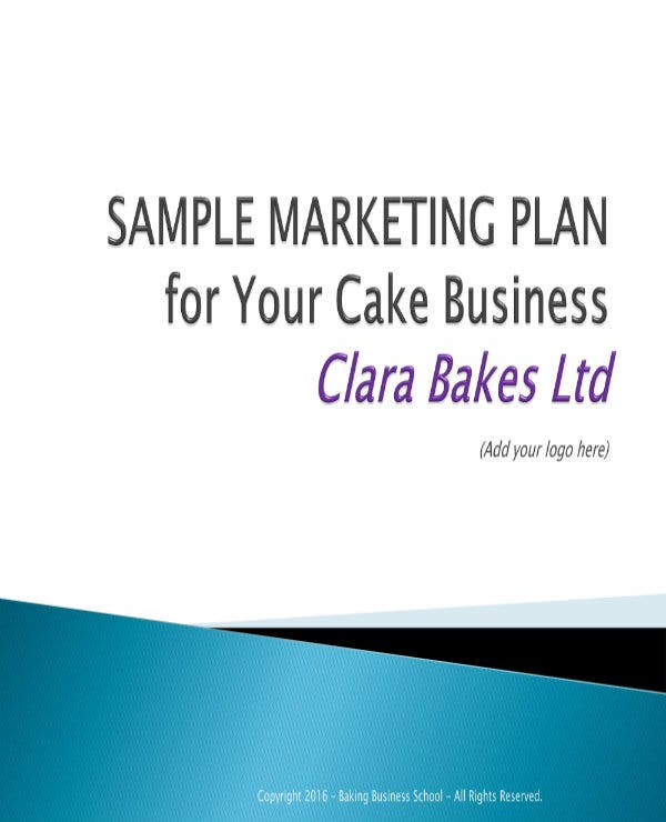 marketing plan for a cake bakery 01