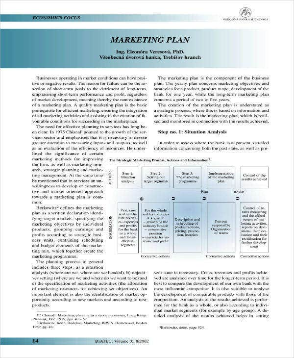 Marketing Sample Plan