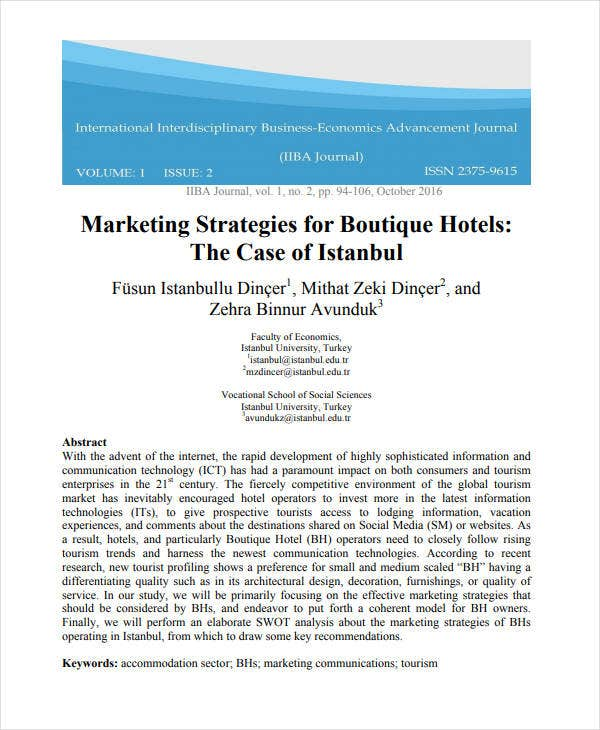 marketing strategies for boutique hotels