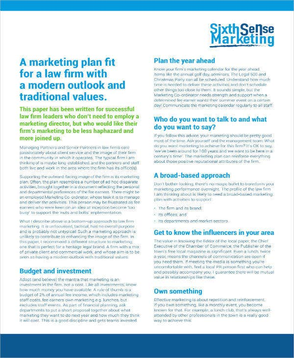 marketing strategies for law firms