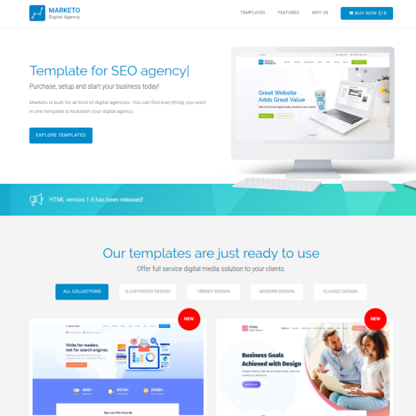 Marketo SEO Agency Website Template