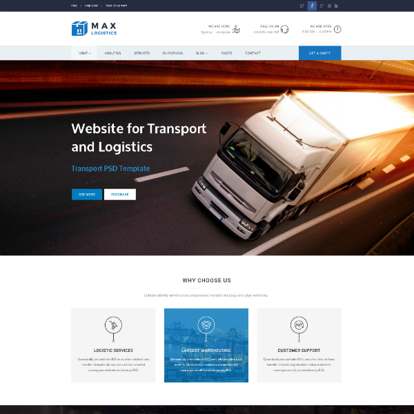17+ Trucking Logistics Website Themes & Templates | Free