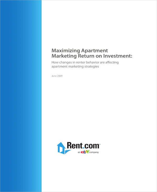 Maximizing Apartment Plan Sample