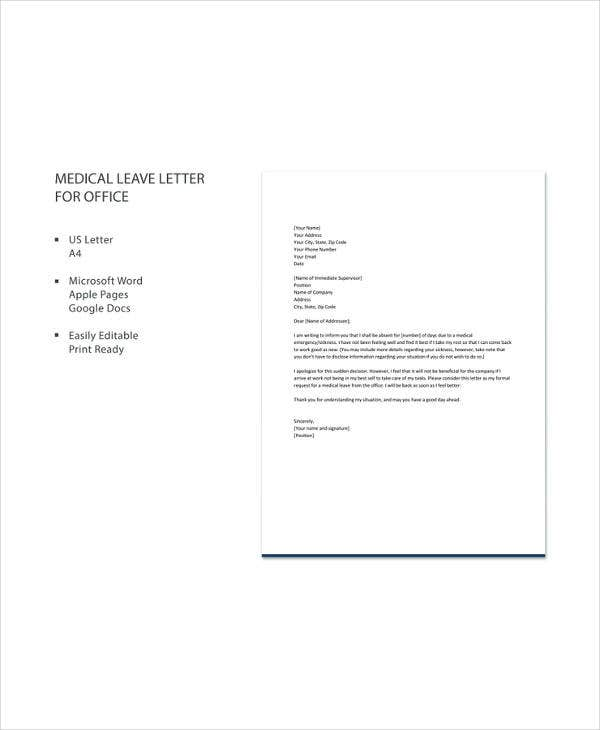 Sick Leave Letter Sample from images.template.net