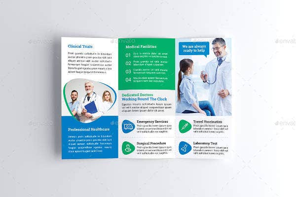 Medical Tri-Fold Brochure Sample