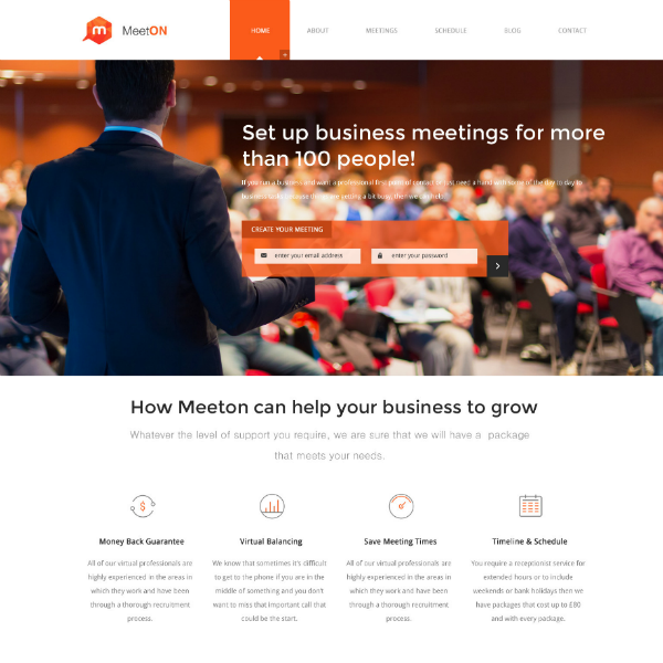meeton conference website template