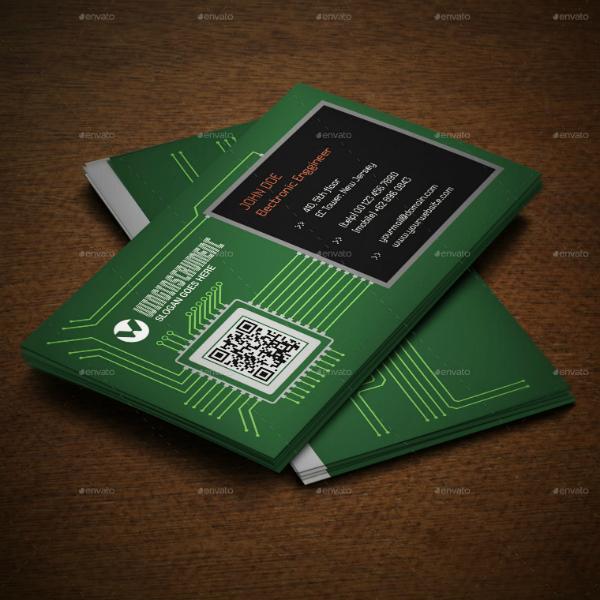 Microchip Engineer Business Card Template