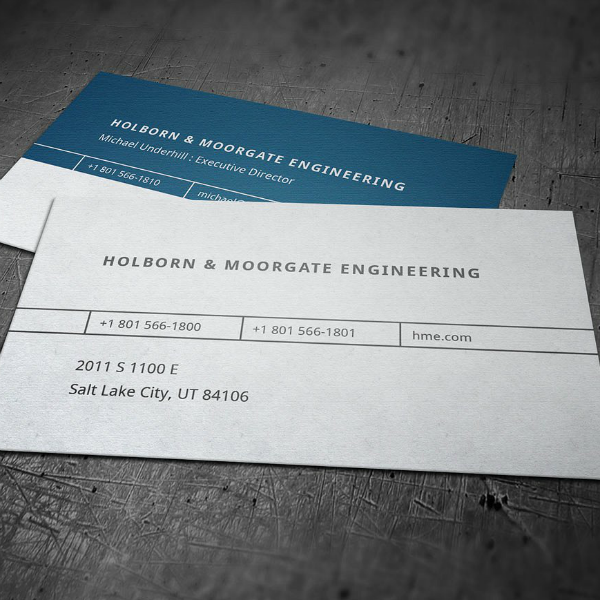 Minimal Corporate Engineer Business Card Template