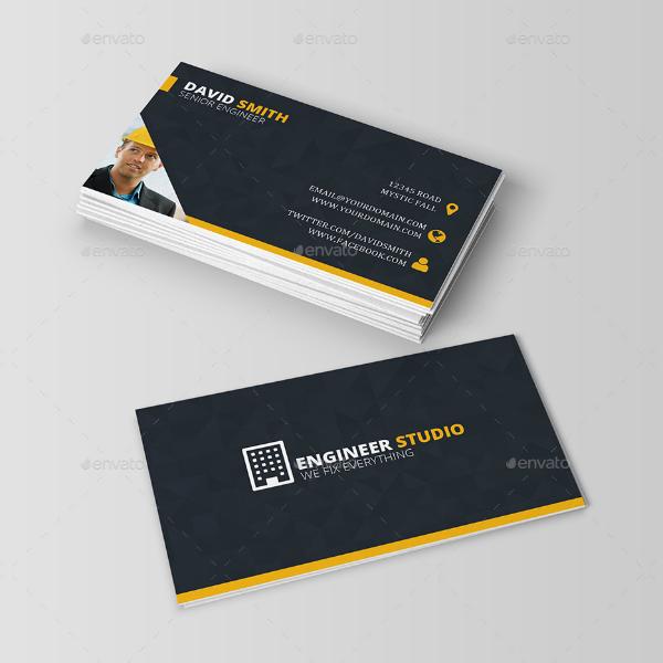 Minimalist Engineer Business Card Template