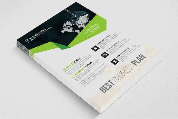 minimalist job agency flyer brochure