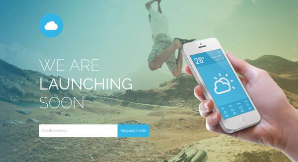 mobile app coming soon responsive template
