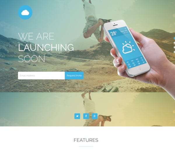 mobile app coming soon responsive wordpress theme