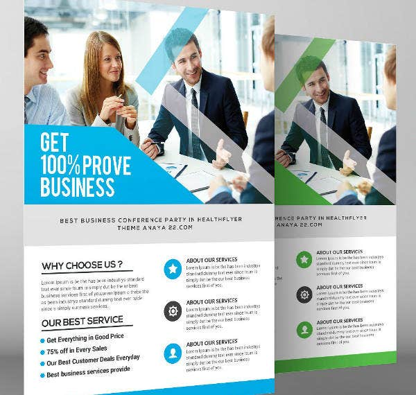 Modern Accounting Firm Business Flyer Template