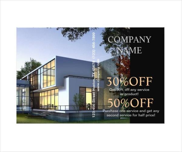modern architectural firm flyer
