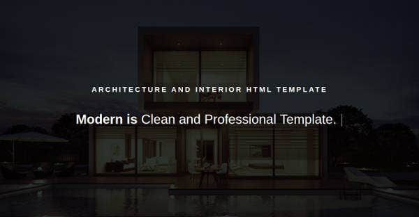 Modern Architecture & Interior Template