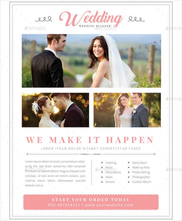 Modern & Clean Wedding Planner Flyer