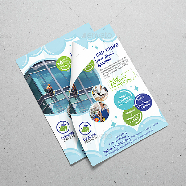 Modern Cleaning Service Company Bundled Templates