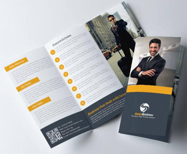 modern employment agency brochure template