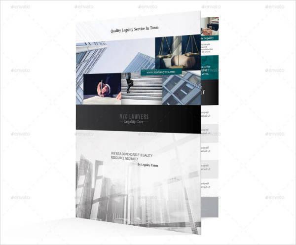 Modern Half-fold Attorney Brochure Template
