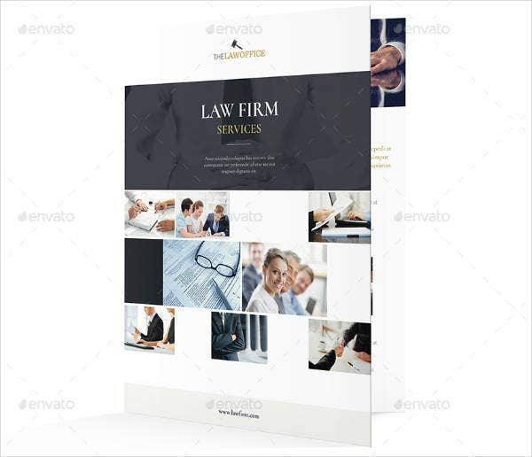modern law firm bi fold brochure template