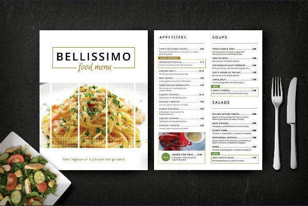 Modern Restaurant Menu Card Template