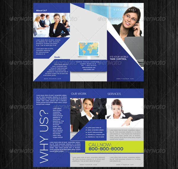 modern services trifold brochure template