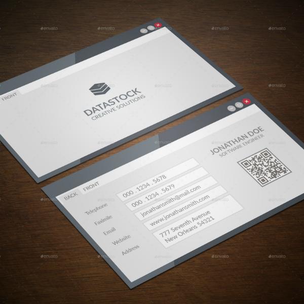Modern Software Engineer Business Card Template