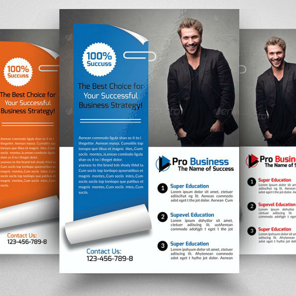 Modern Strategic Business Analyst Flyer Template