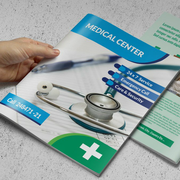 Modern Style Medical Center Brochure Template