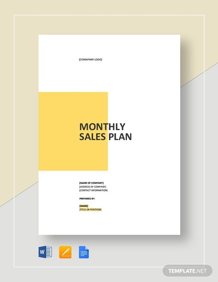 monthly sales plan template2