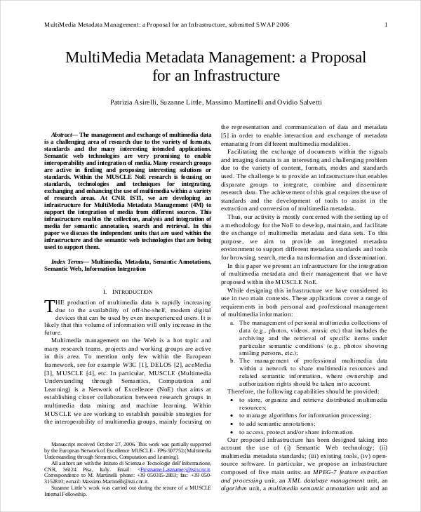multimedia metadata management proposal