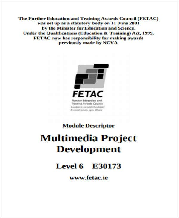 Multimedia Project Development Sample