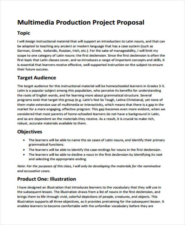 Multimedia Project Production Proposal Template