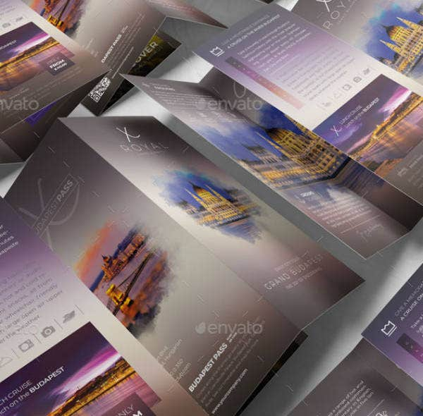 multipurpose cruise brochure template