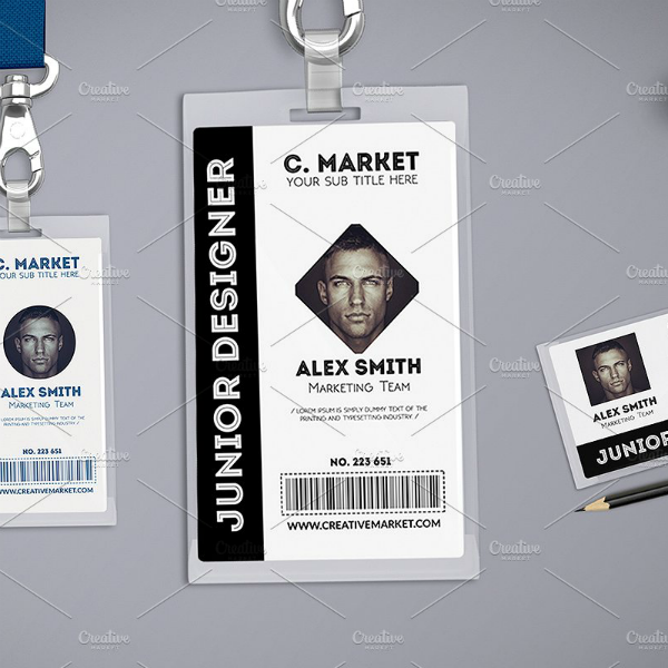 multipurpose vertical id card template