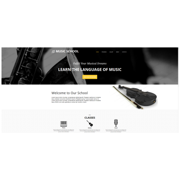 Music Education Website Template