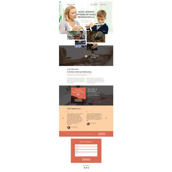 music school responsive landing page template