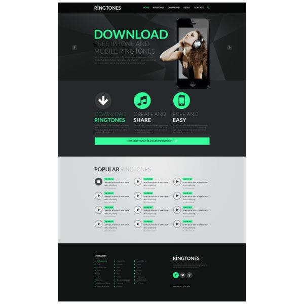 Music Store Responsive Website Template