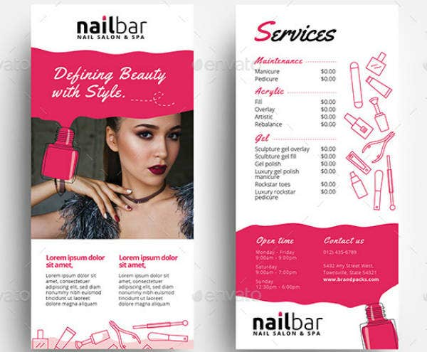 Nail Salon Rack Card Example