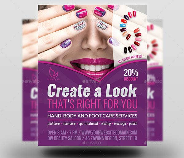Nails Treatment Flyer Template