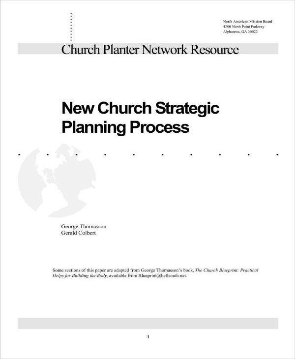 new church strategic plan