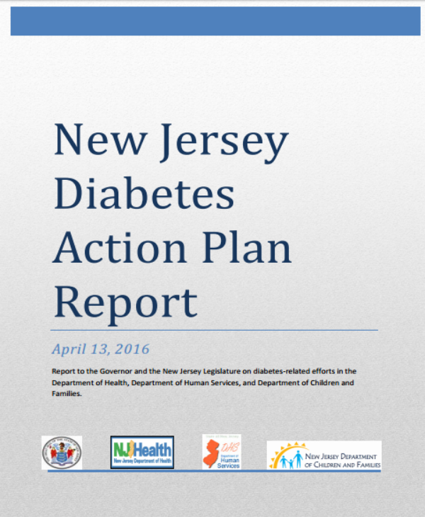 new jersey diabetes action plan template